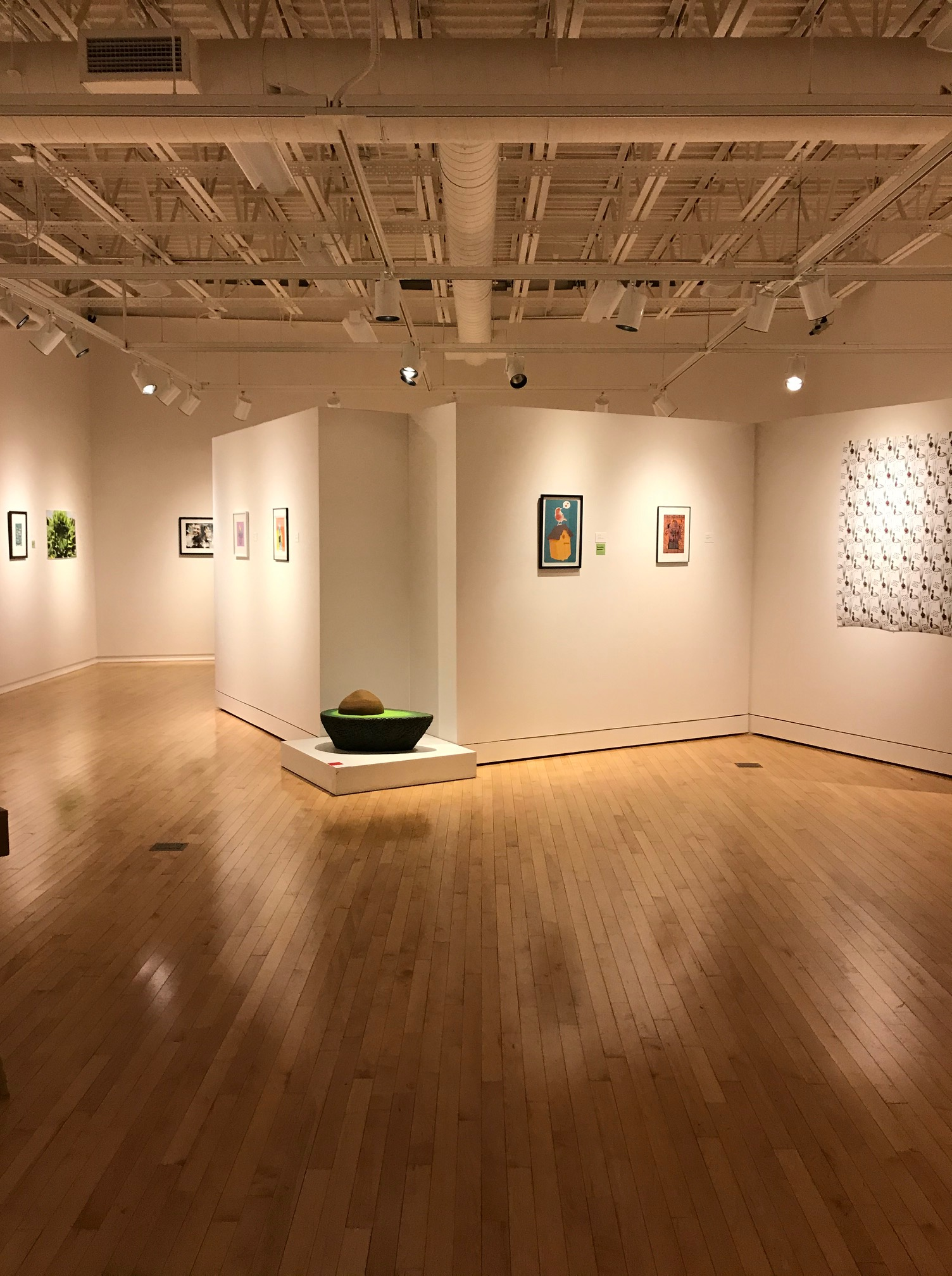 An image of work in a gallery.